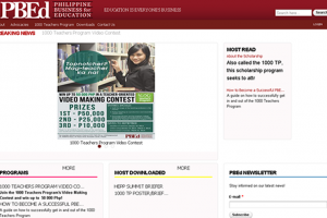 Pbed website front page